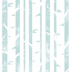 Big Birches in Glacier Blue