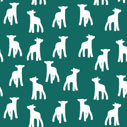 Lamb Silhouette in Emerald