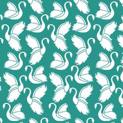 Swan Silhouette in Jade