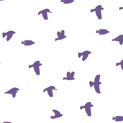 Flock Silhouette in Ultra Violet on White