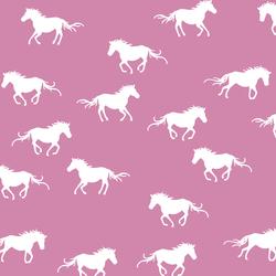 Horse Silhouette in Wisteria