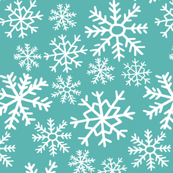 Dashing Through the Snow in Seafoam