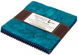 Artisan Batiks: Prisma Dyes, Open Waters colorstory Charm Pack