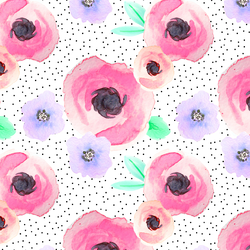 Pin Dot Floral in Flirty
