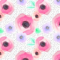 Pin Dot Floral in Flirty