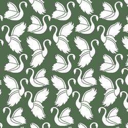 Swan Silhouette in Kale