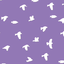 Flock Silhouette in Amethyst