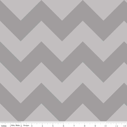 Large Chevron Tone on Tone in Gray