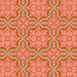Tile Flourish in Cinnamon