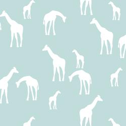 Giraffe Silhouette in Glacier Blue