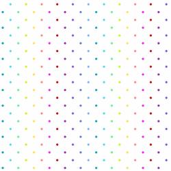 Rainbow Swiss Dot in White