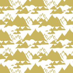Snowy Mountains in Antique Brass