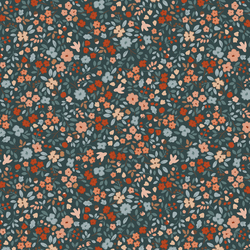 Autumn Floral in Carbon