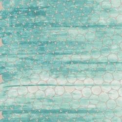 Tile Single Border in Ocean Pearlized