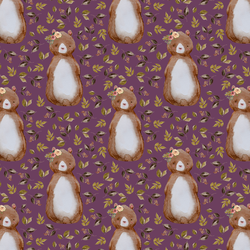 Small Autumn Bear in Plum