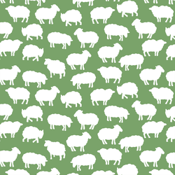 Sheep Silhouette in Pistachio