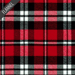 Mammoth Royal Tartan Plaid Flannel in Red