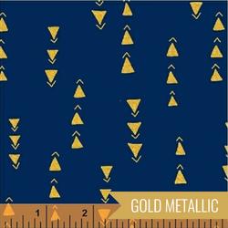 Points in Navy Metallic