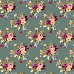 Little Rose Bouquet in Dusty Jade
