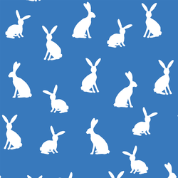 Cottontail Silhouette in Cerulean