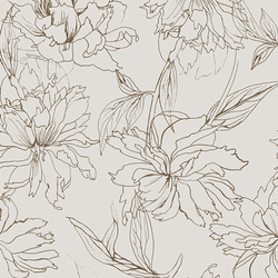 Fair Peonies in Traced