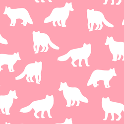 Fox Silhouette in Rose Pink