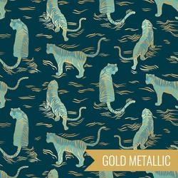 Tigress in Metallic Dark Teal