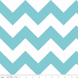 Large Chevron in Aqua
