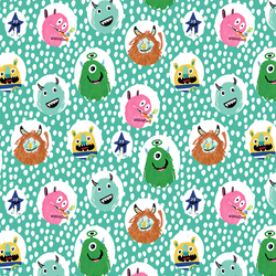 Little Monsters Dot in Aqua