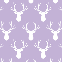 Stag Silhouette in Lilac