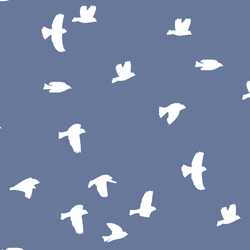 Flock Silhouette in Azurite