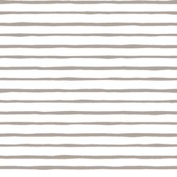 Artisan Stripe in Taupe on White