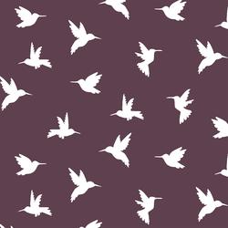 Hummingbird Silhouette in Raisin