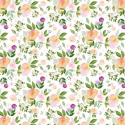 Little Garden Blooms in White