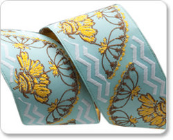 Yarrow Flower in Gold and Blue