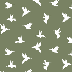 Hummingbird Silhouette in Olive