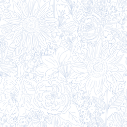 Paperie in Breezy Blue on White