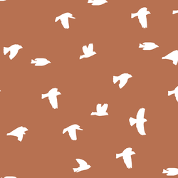 Flock Silhouette in Terracotta
