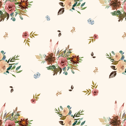 Fall Floral in Soft Ivory