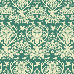 Little Antler Damask in Jade Green
