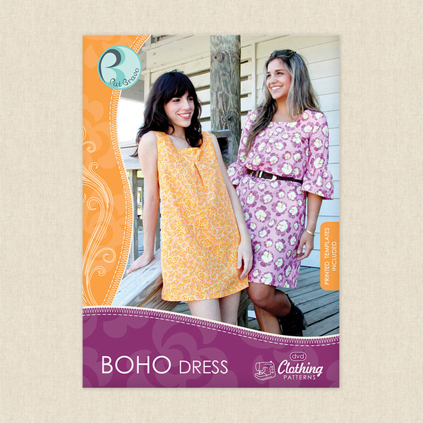 Boho Dress Pattern and DVD Sewing Pattern by Art Gallery at ...