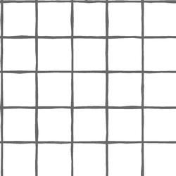 Windowpane in Charcoal on White