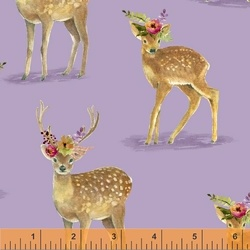 Floral Fawns in Lilac