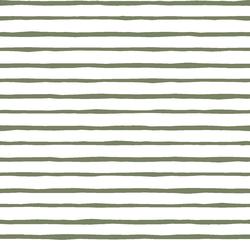 Artisan Stripe in Olive on White