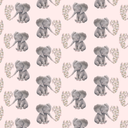 Little Baby Elephant in Soft Blush