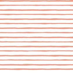 Artisan Stripe in Grapefruit on White