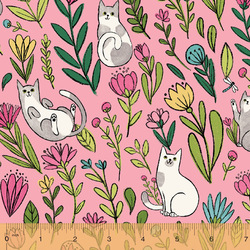 Flower Cats in Pink