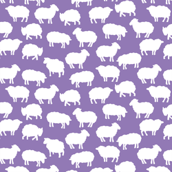 Sheep Silhouette in Amethyst