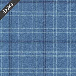 Mammoth Small Modern Tartan Plaid Flannel in Pacific