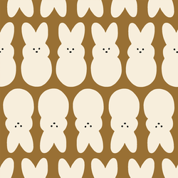 Large Easter Bunnies in Caramel Brown